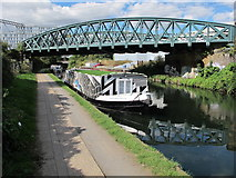 TQ2182 : Growbeautifully, canal boat on Paddington Arm, Grand Union Canal by David Hawgood