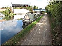 TQ2282 : Kingfisher, narrowboat on Paddington Arm, Grand Union Canal by David Hawgood