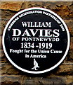 ST2996 : William Davies of  Pontnewydd black plaque, Cwmbran by Jaggery
