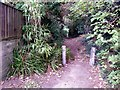 SZ1492 : Tuckton: the start of footpath I18 by Chris Downer