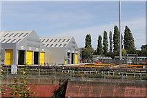 TQ1979 : Ealing Common depot by Andrew Abbott