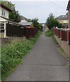 ST2896 : Path towards Parc Avenue, Cwmbran by Jaggery