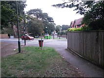 SZ1491 : Southbourne: footpath I15 reaches Belle Vue Road by Chris Downer