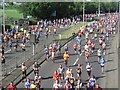 NZ2762 : Runners on the Felling Bypass by Graham Robson