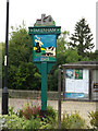 TL9267 : Pakenham Village sign by Adrian Cable