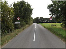 TL9165 : Entering Thurston on Ixworth Road by Adrian Cable
