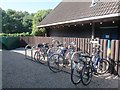 TL3602 : Cheshunt youth hostel cycle stands by Stephen Craven