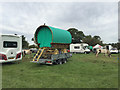 SP2970 : Traditional gypsy van – but on a trailer, Kenilworth Horse Fair by Robin Stott