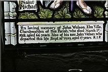 SO2355 : Window Inscription 2 by Bill Nicholls