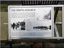 HU4039 : 'Shetland Bus' information panel 1 by John Lucas
