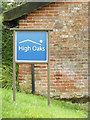 TM1586 : High Oaks sign by Adrian Cable