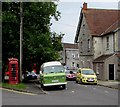 ST4837 : Red, green and yellow in Grange Road, Street, Somerset by Jaggery