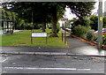ST2994 : No Cycling sign facing Oldbury Road, Old Cwmbran by Jaggery