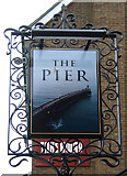 NZ8911 : Sign for the Pier Inn public house, Whitby by JThomas