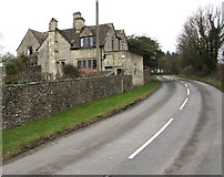 SO8700 : House on the south side of Woefuldane Bottom near Minchinhampton by Jaggery