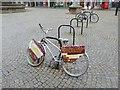 NJ2162 : Advertising bike in Elgin town square by Oliver Dixon