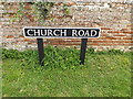 TM1192 : Church Road sign by Adrian Cable