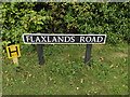 TM1192 : Flaxlands Road sign by Adrian Cable