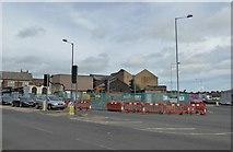 SJ8748 : Cobridge: demolition at the crossroads by Jonathan Hutchins