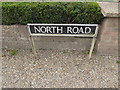 TM1193 : North Road sign by Adrian Cable
