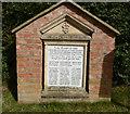 SJ5756 : 1st. World War memorial, Haughton village by Norman Caesar