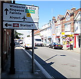 SZ1593 : Directions sign facing Bargates, Christchurch by Jaggery
