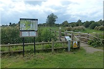 ST4286 : Information board, Magor Marsh by Robin Drayton