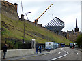 NT2573 : Edinburgh Castle temporary grandstand by Thomas Nugent