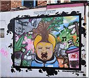 J3373 : Street art, Donegall Pass, Belfast (October 2016) by Albert Bridge