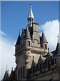 NS2776 : Greenock Sheriff Court tower by Thomas Nugent