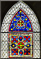 SK9771 : Stained glass window Nt19, Lincoln Cathedral by Julian P Guffogg