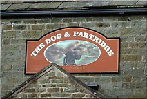 SD7656 : Sign for the Dog and Partridge, Tosside by JThomas
