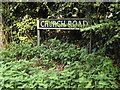 TM1389 : Church Road sign by Adrian Cable