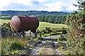 NO0643 : Storage tank near Letter by Jim Barton