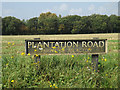 TM1588 : Plantation Road sign by Adrian Cable