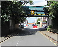 SO9422 : East side of a former railway bridge over Market Street Cheltenham by Jaggery