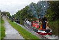 SK2103 : Working narrowboat at Glascote Locks, Staffordshire by Roger  Kidd
