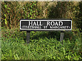 TM1787 : Hall Road sign by Adrian Cable