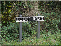 TM1787 : Lodge Road sign by Adrian Cable