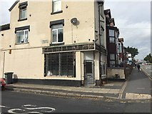 SJ8748 : Cobridge: derelict shop on the corner of Winifred Street by Jonathan Hutchins