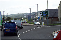 NS3174 : The A8 at Port Glasgow by Thomas Nugent