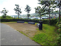 NS3174 : Benches by the Clyde by Thomas Nugent