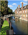 TL4458 : Queens' College: restoring the river bank by John Sutton