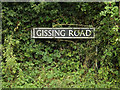 TM1685 : Gissing Road sign by Adrian Cable