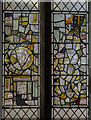 SP3378 : Medieval stained glass, St Mary's Guildhall, Coventry by Julian P Guffogg