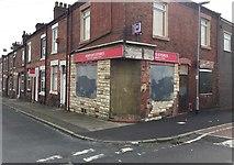 SJ8748 : Hanley: Horton's Stores on the corner of Denbigh Street by Jonathan Hutchins