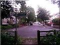 SZ1194 : Strouden: Wordsworth Avenue from footpath K18 by Chris Downer