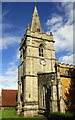 SK8110 : The tower and spire of St John the Baptist's Church by Roger Templeman