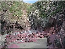 SM7624 : Purple sandstone, Caerfai Bay by E Gammie