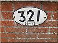 TM1585 : Bridge sign on Glebe Road Railway Bridge by Adrian Cable